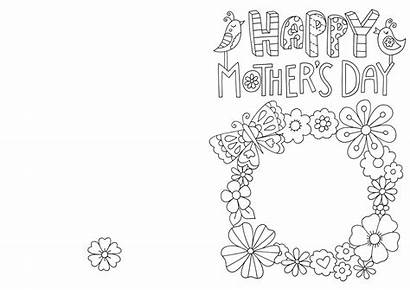 Card Colouring Mothers Mother Cards Coloring Hobbycraft