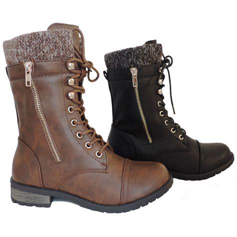 heeled motorcycle new womens military boots motorcycle heel combat booties