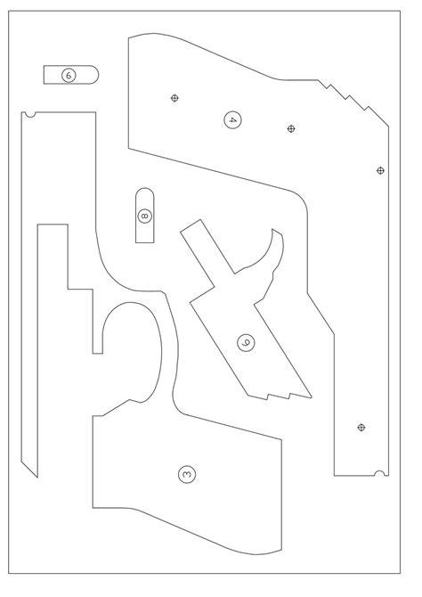 rubber band gun template поделки из фанеры пистолет стреляющий канцелярскими резинками