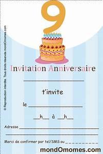 Invitation Anniversaire Fille 9 Ans : carte d 39 anniversaire fille 9 ans ~ Melissatoandfro.com Idées de Décoration