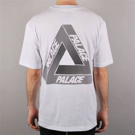 palace skateboards palace tri line skate t shirt white