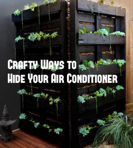 diy ways  hide  beautify  air conditioner