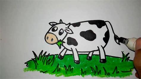 cara menggambar sapi lucu untuk anak YouTube