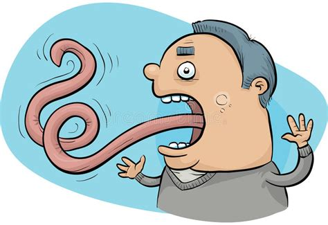 Long Tongue Stock Illustration