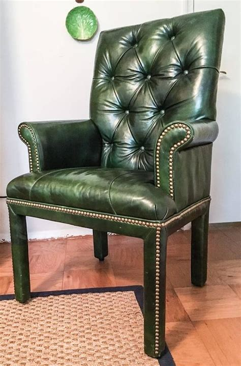 Green Leather Armchair by Emerald Green Leather Armchair By Michael At 1stdibs