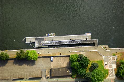 Ferry Boat Glasgow by River Clyde Broomielaw Pontoon Ferry In Glasgow Sc