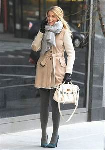 Blake Lively/ grey tights | Celeb Style Stalk! | Pinterest ...