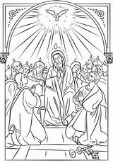 Pentecost Coloring Icon Pages Holy Catholic Sacraments Bible Spirit Printable Colouring Drawing Crafts Printables Sunday Religious Supercoloring Saints Activity Sheets sketch template