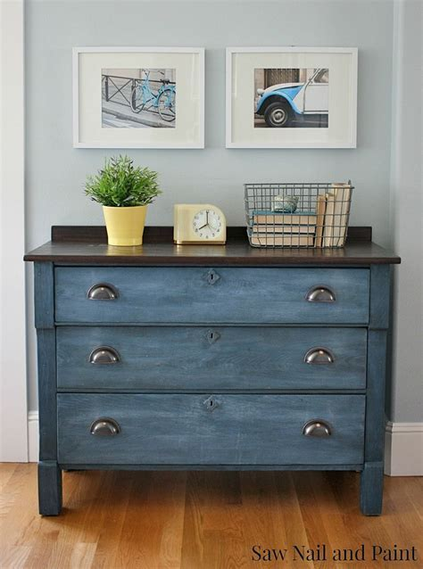 Hometalk   Upcycled Blue Chest Of Drawers