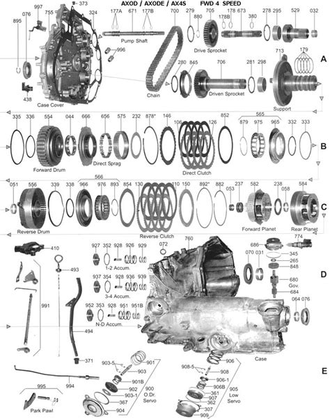 Cd4e Wiring Diagram by 2002 Ford Escape Parts Diagram Automotive Parts Diagram