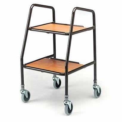 Trolley Kitchen Wooden Shelves Wheeled Indoor Household