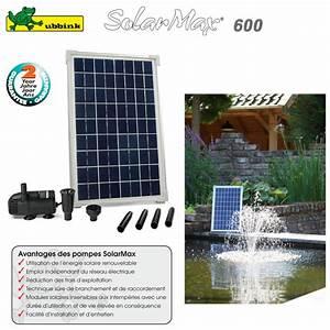Pompe Bassin Solaire Jardiland : pompe pour bassin aquatique solaire solarmax 600 ~ Dallasstarsshop.com Idées de Décoration