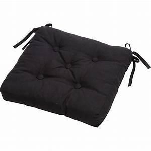 Coussin 40x40 Pas Cher : galette de chaise noire pas cher ~ Teatrodelosmanantiales.com Idées de Décoration