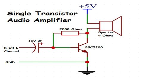 Transistor Audio Amplifier Make Using