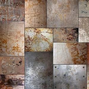 Papier Peint Style Industriel : papier peint style industriel carr s en acier 270x270 cm ~ Dailycaller-alerts.com Idées de Décoration