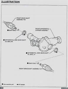 2010 Toyota Tacoma Front Differential Diagram
