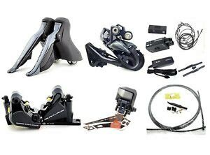 shimano dura ace di2 r9170 hydraulic disc brake groupset w di2 junctions wires ebay