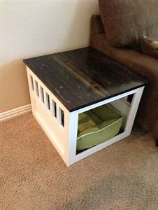 best 25 crate end tables ideas on pinterest night With dog crate desk