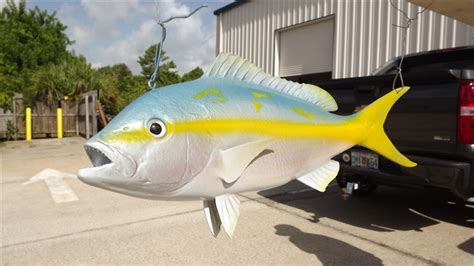 snapper yellowtail mount 3d fish code description