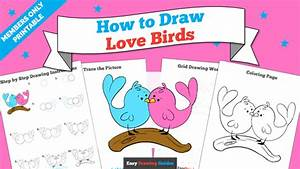 How To Draw Love Birds