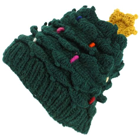 christmas tree hat wool knit knitted xmas loudelephant