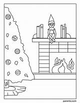 Coloring Elf Shelf Excited Inspired Eve Season sketch template