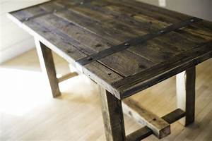 Reclaimed wood dining table – great home furniture by