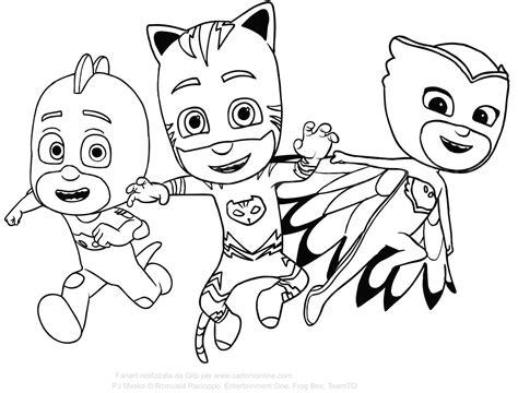disegni da colorare geco pigiamini disegno di geco dei pj masks superpigiamini da stare e