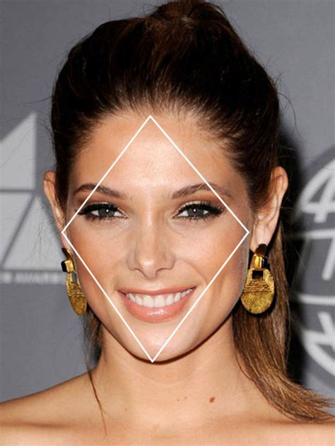 hairstyles  diamond face shape   flatter