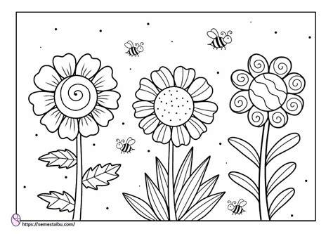gambar mewarnai bunga archives lembar kerja anak