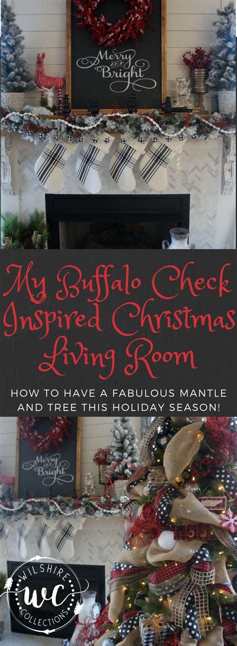 buffalo check inspired christmas living room learn