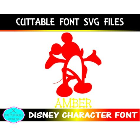 This font has clean, yet still has decorative accents with the slight slants and curves. Disney Font SVG, Mickey Mouse font,fonts,Circle Monogram ...