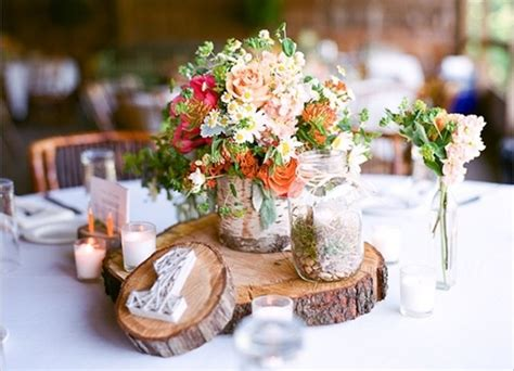 country wedding table decorations rustic wedding reception decoration ideas