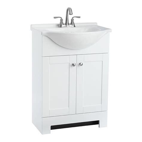 shop style selections euro white integral single sink