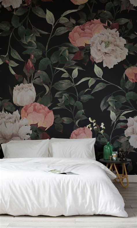 Make Home Bloom Floral Wallpaper Ideas by Vintage Floral Wall Mural Wallpaper Ideas Floral