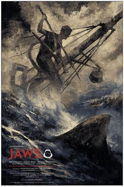 Jaws Movie Poster Karl Fitzgerald Film Variant