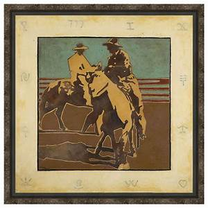 trotting around framed canvas With best brand of paint for kitchen cabinets with monogram framed wall art