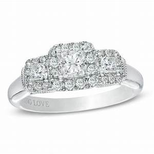 vera wang love collection 3 4 ct tw princess cut With vera wang wedding rings love collection