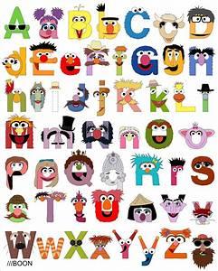 Muppet mania sesame street alphabet for Sesame street alphabet letters