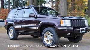 1998 Jeep Grand Cherokee Limited 5 2l V8 4x4 Leather  U0026 Loaded