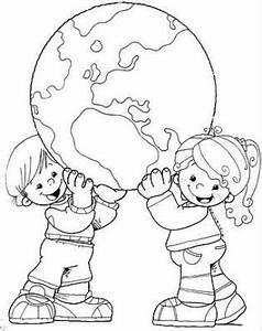 Globe Terrestre Enfant : enfants le globe coloriage cole pinterest jour de la terre coloriage et terre ~ Teatrodelosmanantiales.com Idées de Décoration