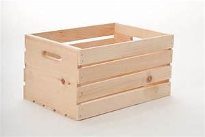 Caisse En Bois : stor pine wood crate ~ Nature-et-papiers.com Idées de Décoration
