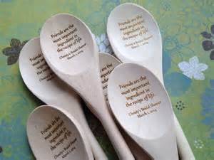 Personalized Wooden Spoon with Friendship Quote