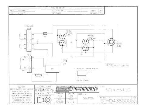 coleman model pm generator genuine parts