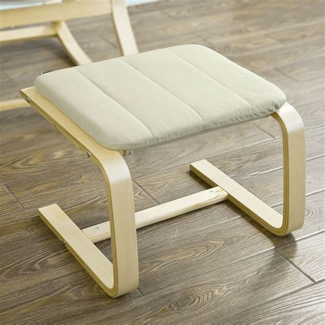 sobuy 174 relax chair rocking chair with adjustable footrest