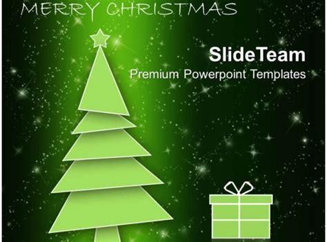holidays winter christmas tree  gift box powerpoint
