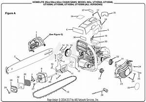 Homelite Ut10584 18 In  42cc Chain Saw Parts Diagram For Figure A