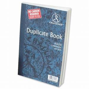 challenge duplicate book carbonless ruled 210x130mm pack 5 With duplicate invoice books carbonless