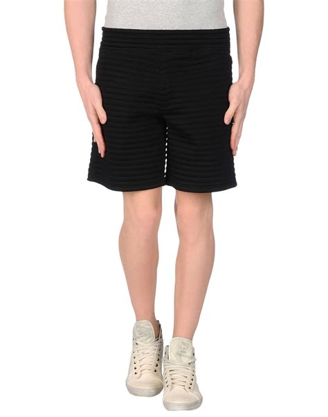 ferragamo bermuda lyst neil barrett bermuda shorts in black for
