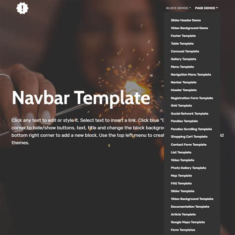 the templat free bootstrap template 2018